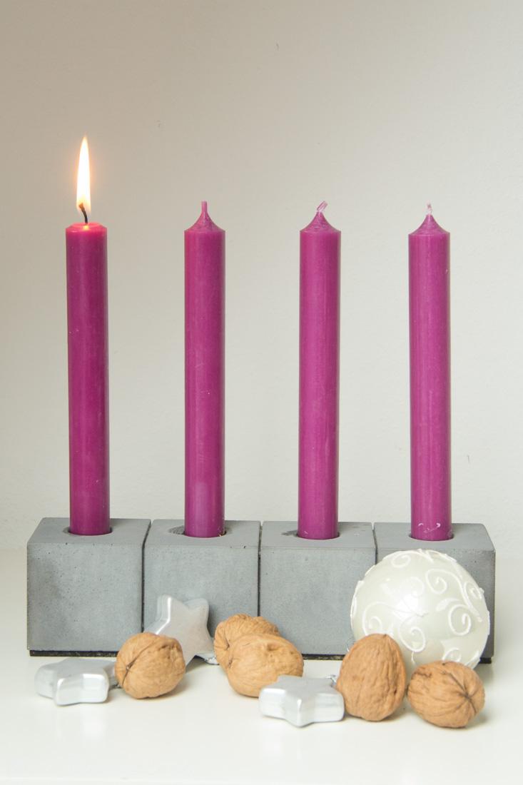 Beton Kerzenständer mit Kugeln