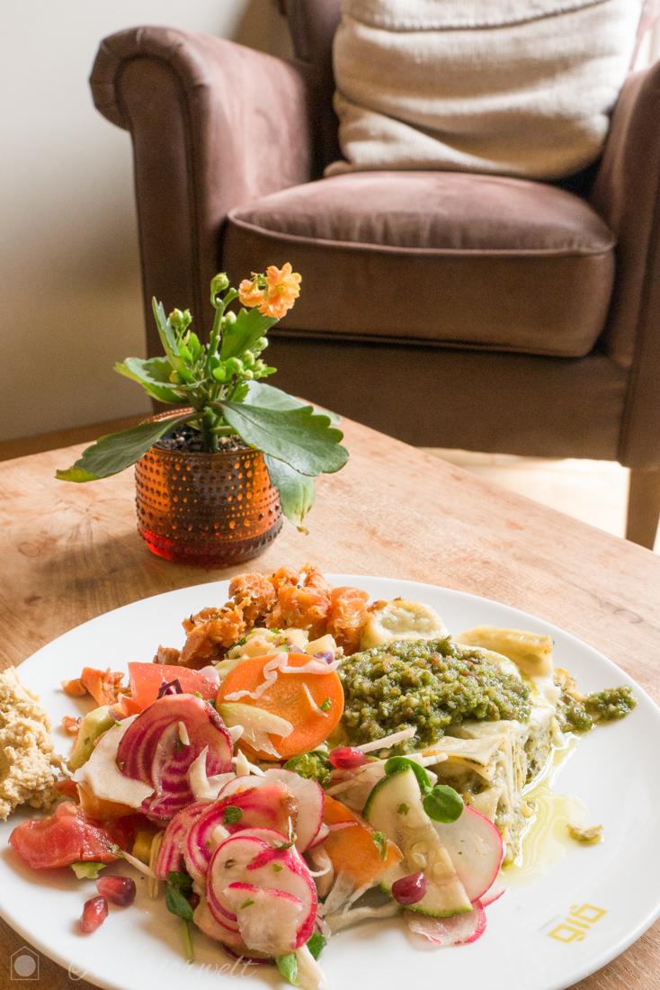 Vegetarisches Essen im Restaurant Glo