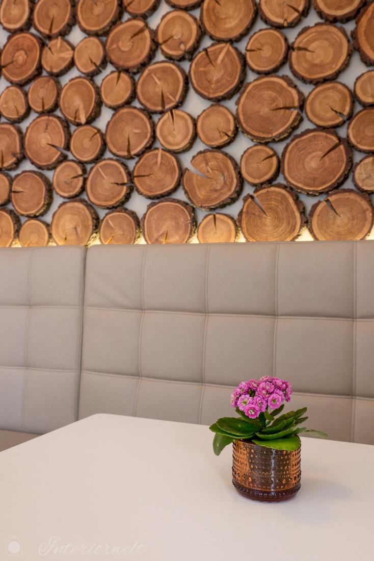 Holz als Wanddekoration