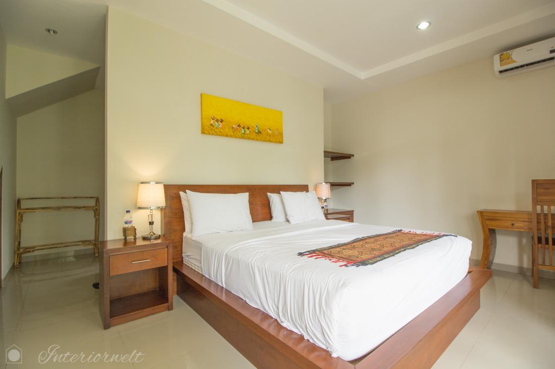 Bett in Villa Ubud