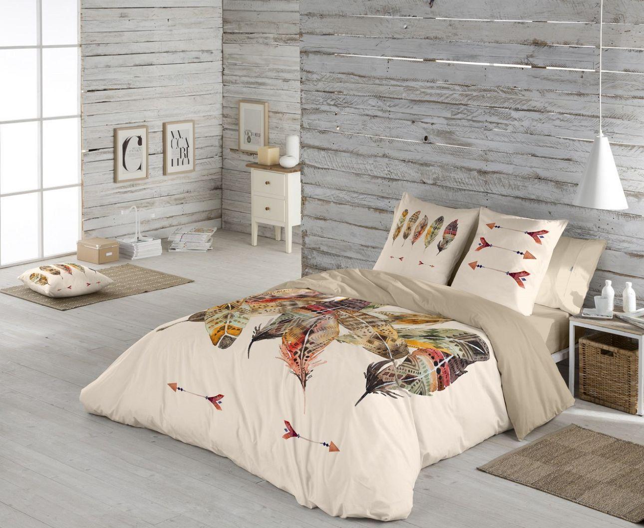 Bettwäsche mit Federn