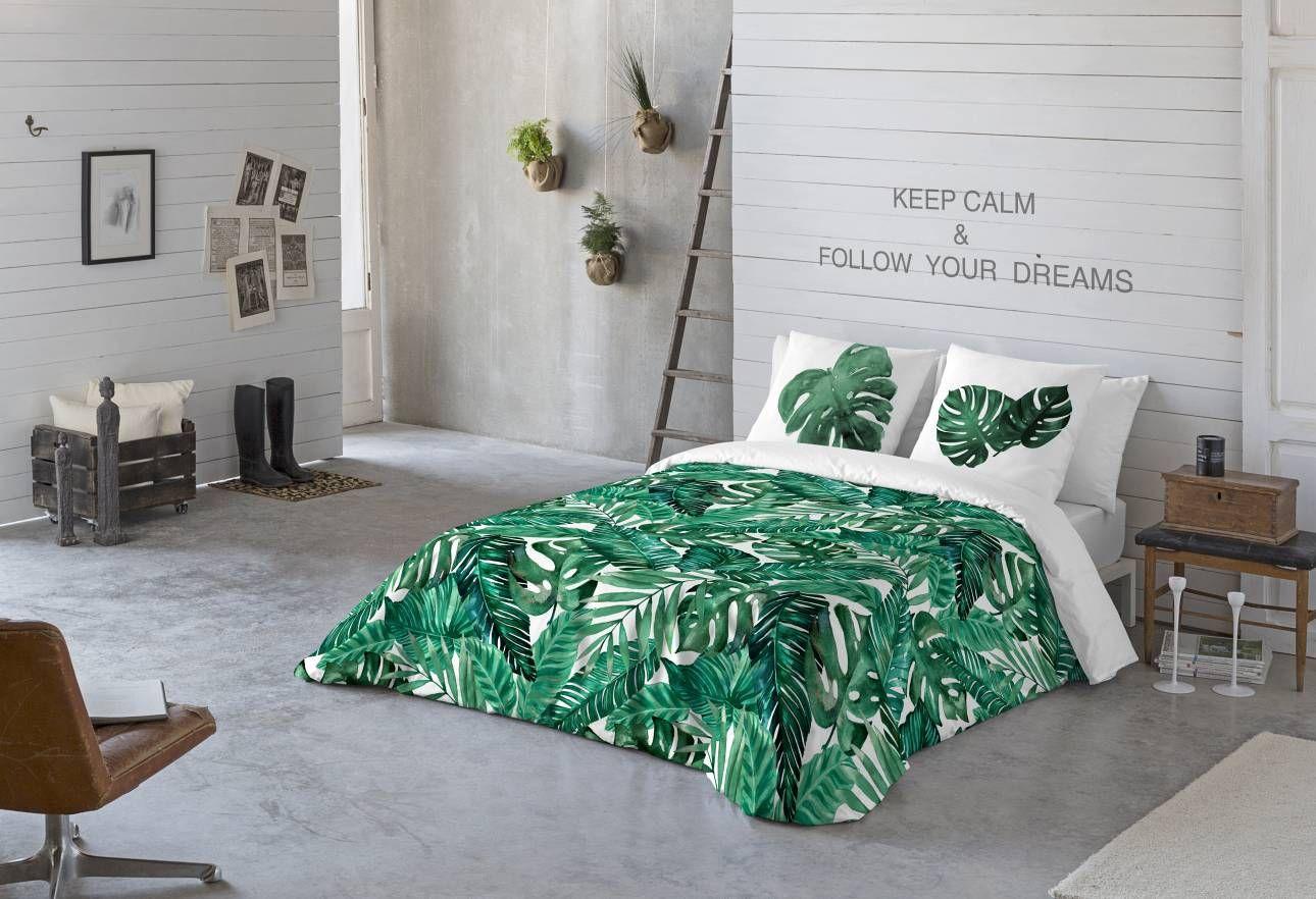 Bettwäsche Palmblätter