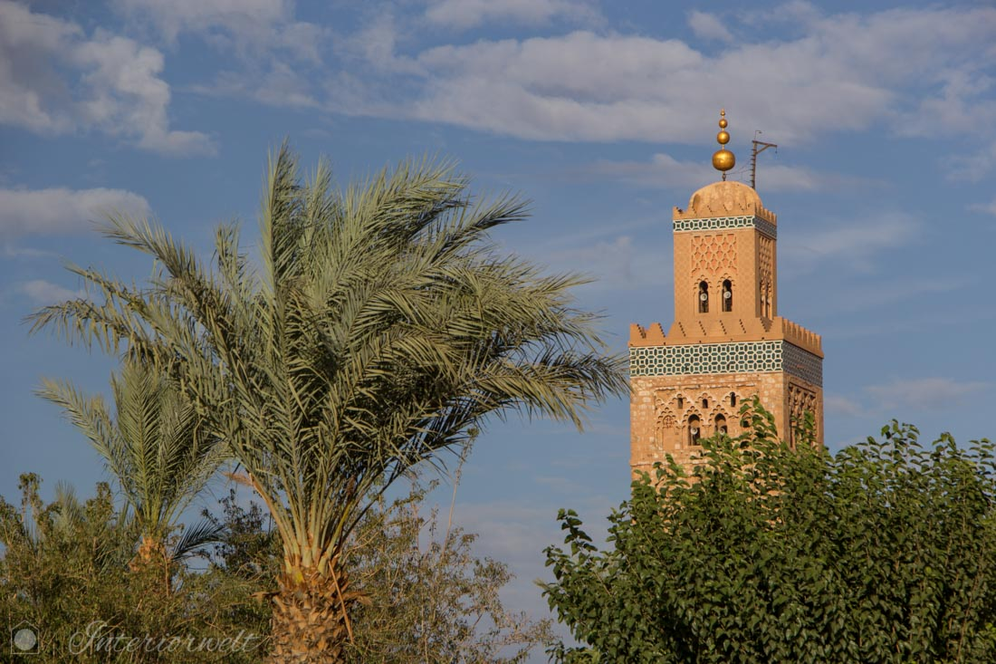 Minarett Marrakesch Architektur