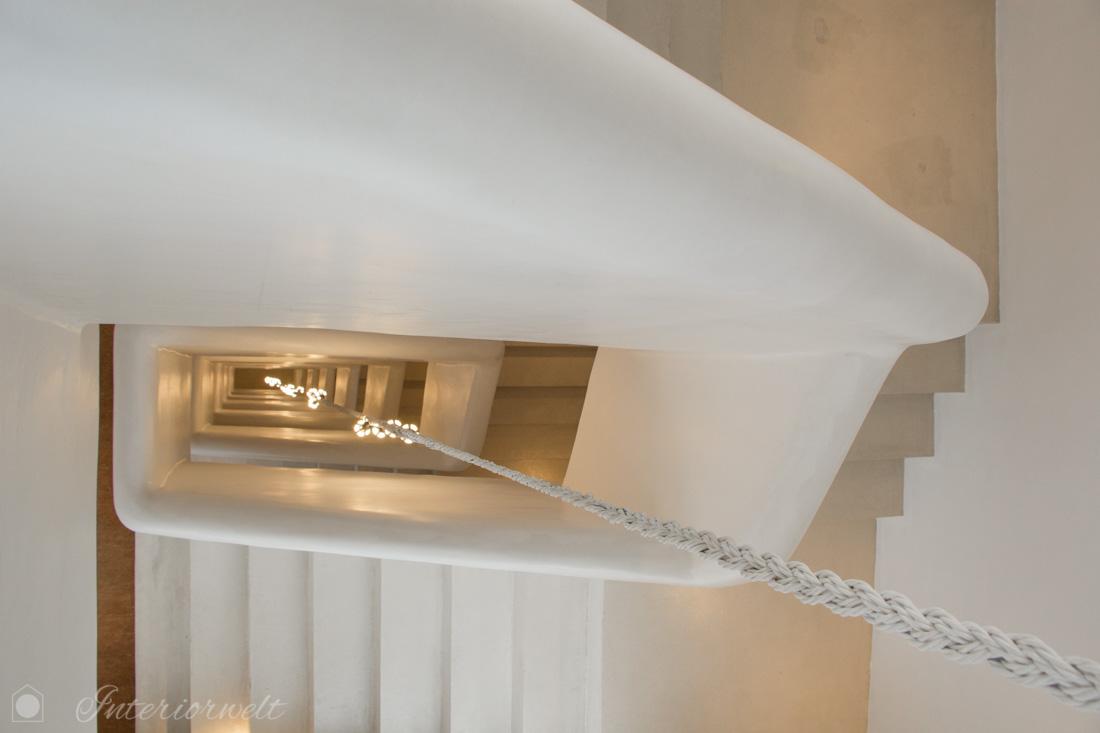 Treppenhaus Design weiss