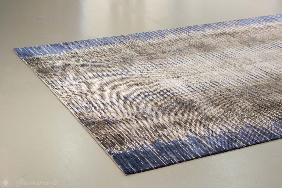 Kelim Designteppich blau grau