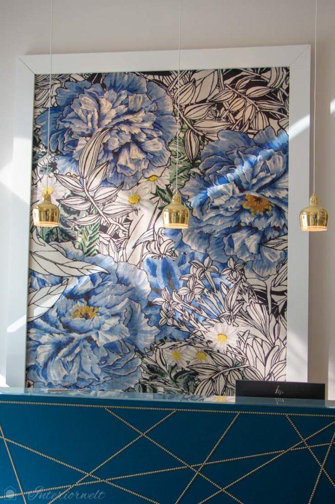 Teppich Blumen Blau