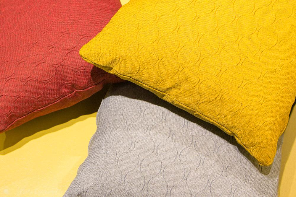 Kissen Trendfarben Grau Gelb